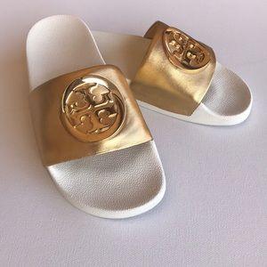 Tory Burch Lina Slide Gold Metallic 5